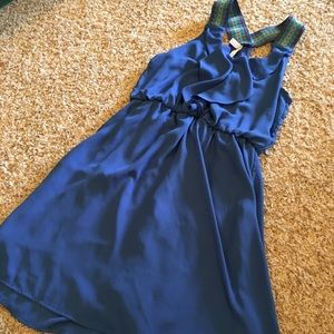 Xhilaration Dresses - Xhilaration Blue Razorback Dress, Size Medium